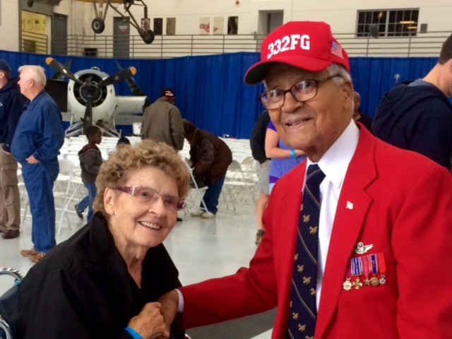 Nancy Wright and Tuskegee Airman Charles McGee - Fantasy of Flight Feb 2014